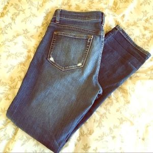 Banana Republic straight leg distressed jeans